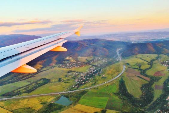 Flying over Bulgaria