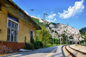 The railway station in Cherepish.