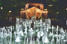 "National Theater ""Ivan Vazov"" during the night."