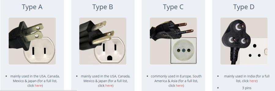 Plug_and_socket types
