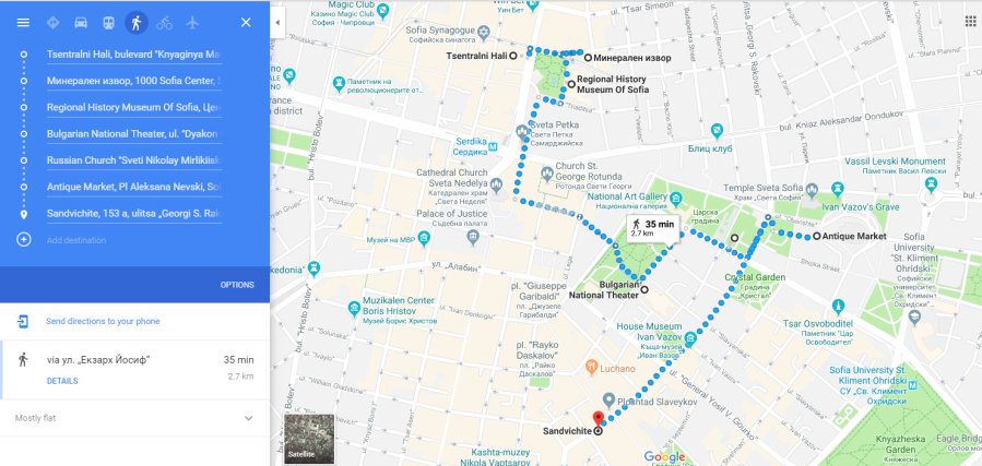 Sightseeing Route_Sofia City
